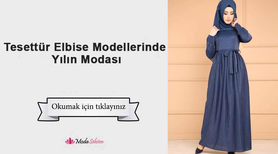 cfbe3767457c1 Tesettür Elbise Modellerinde Yılın Modası