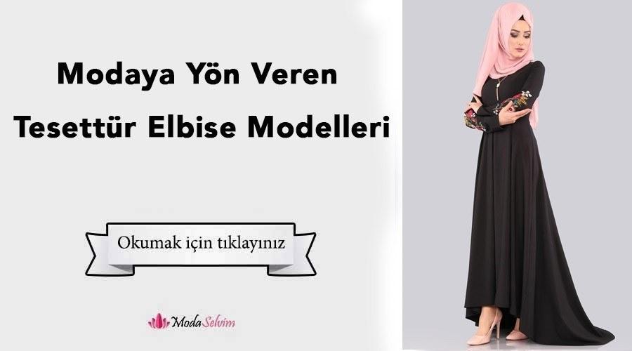 13046cb5db8c0 Modaya Yön Veren Tesettür Elbise Modelleri